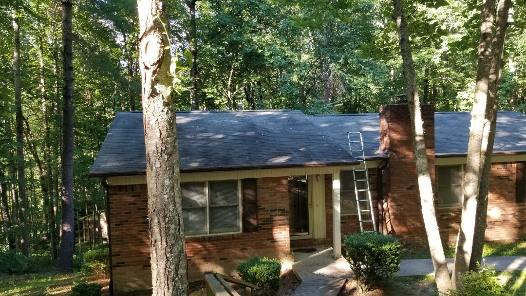 Hendersonville, NC - Onsite with another roofing estimate. Independent Construction Services is a GAF Master Elite roofing contractor with all appropriate licenses and insurance to take care of your roofing, siding, guttering and painting (exterior and interior) needs. We also do church roofs and steeple cleaning, as well as algae and mildew treatments.� Centrally� located� in� Mills River,� NC,� we are able to service both the greater Asheville and Hendersonville areas. Call us today at (828) 808-8482