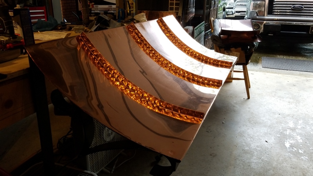 Mills River, NC - #CopperAwning #CustomFabrication #Waynesville #Asheville #RoofingContractor #NC