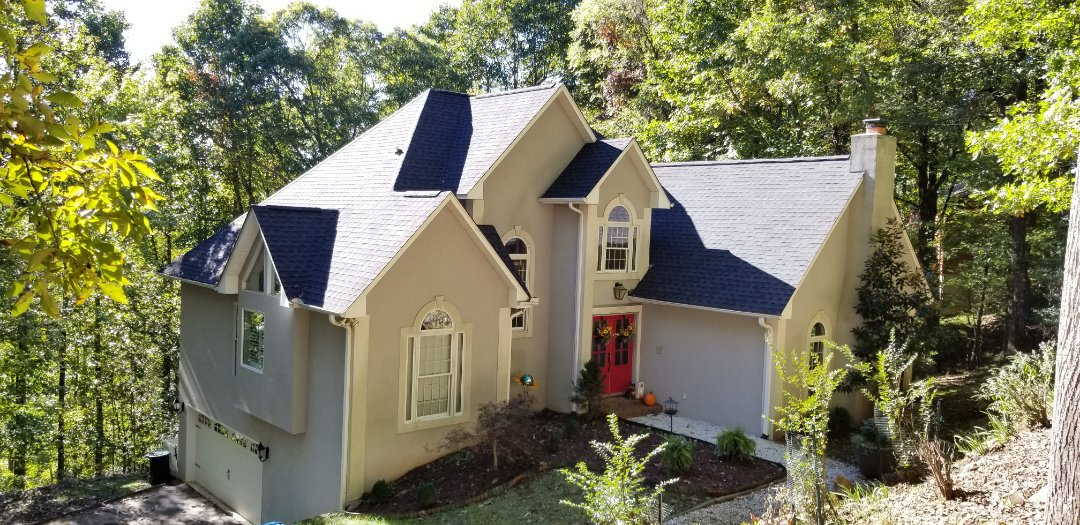 Mills River, NC - Another beautiful GAF roof installed in Timberline HD Charcoal.