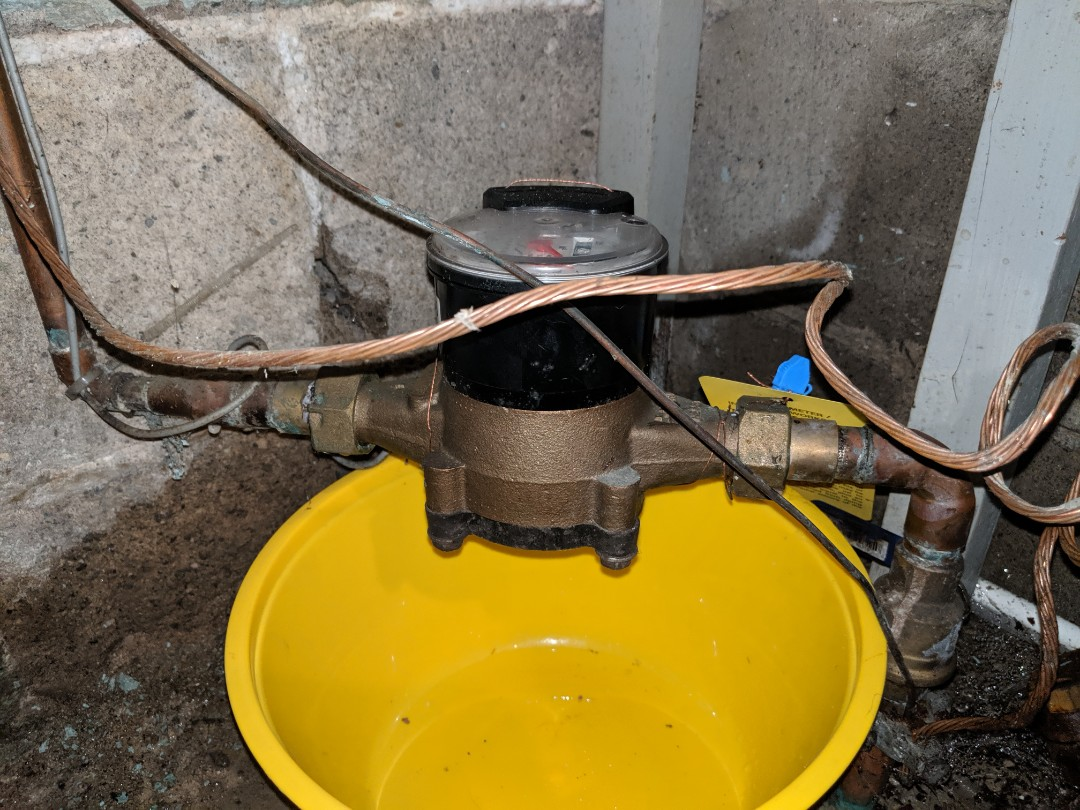 Leak at water meter