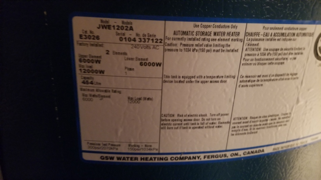 Replace relief valve on hot water tank