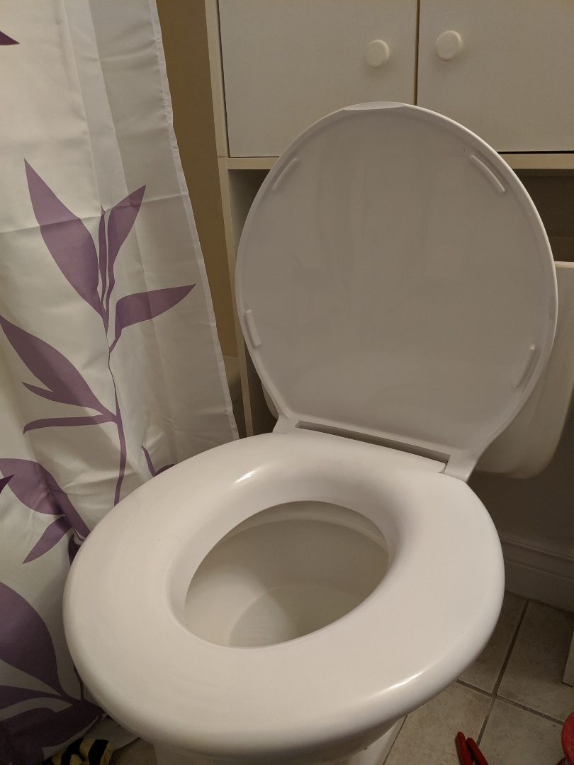 Repaired toilet and installed owners seat.