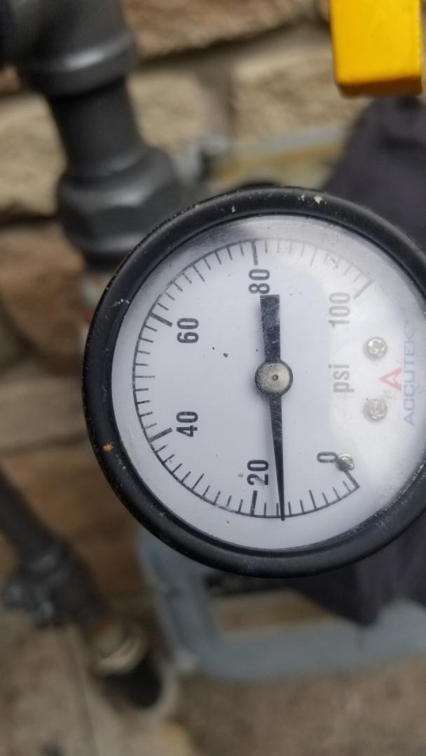 Fixed gas leak