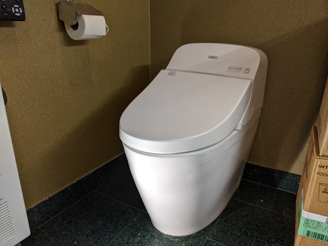 Installed Toto Washlet toilet
