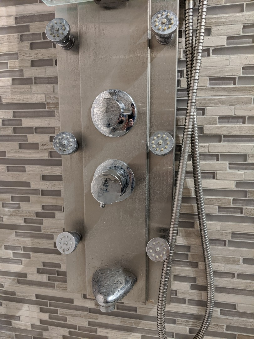 Ordering parts for shower column