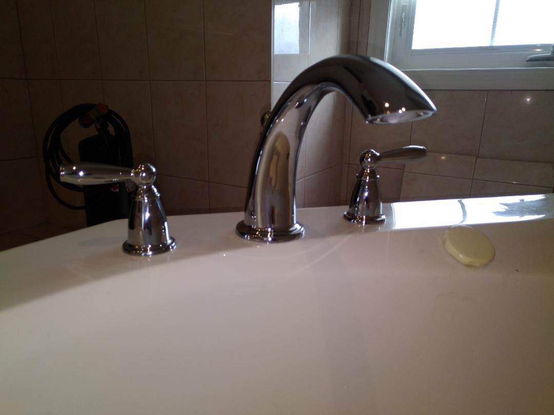 Installing Roman tub filler