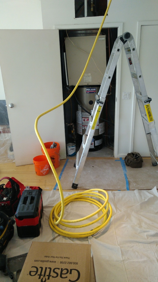 Installing new gas line to stove