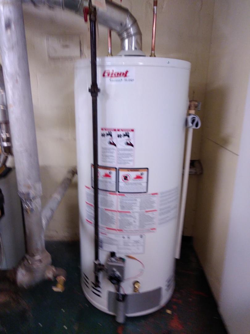 Supply and install hot water tank