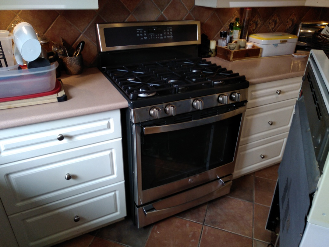Installed new gas stove