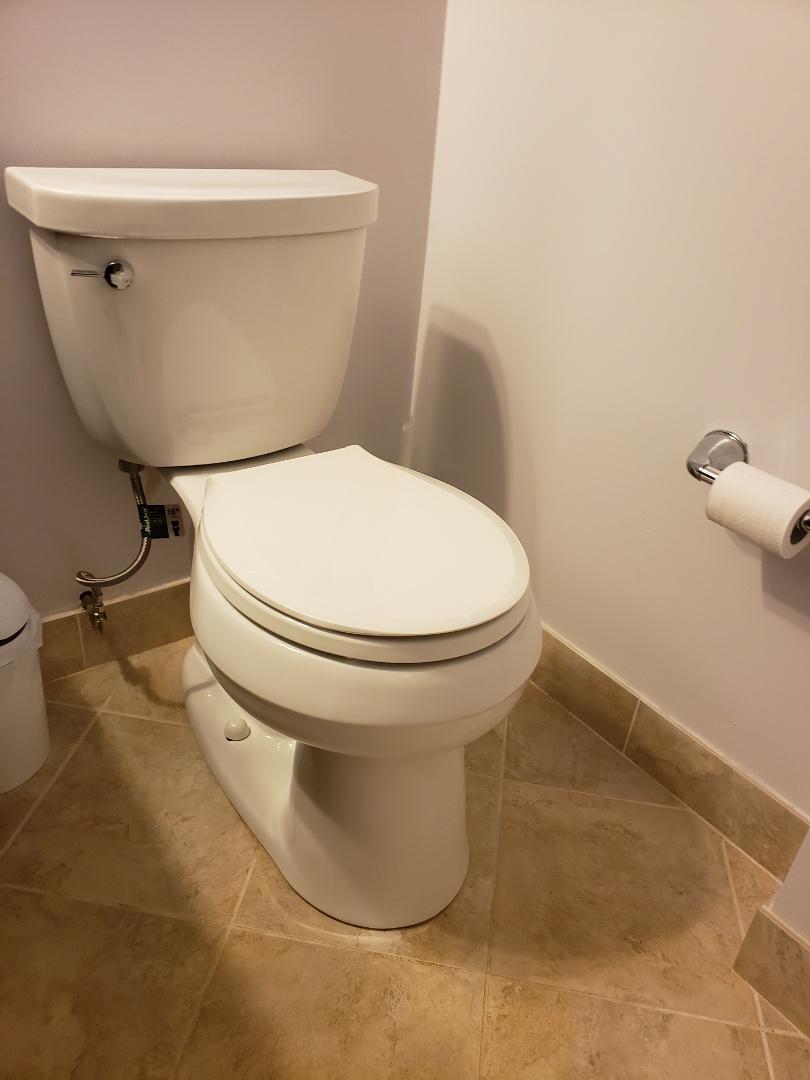 Installed customers Kohler Cimarron toilet