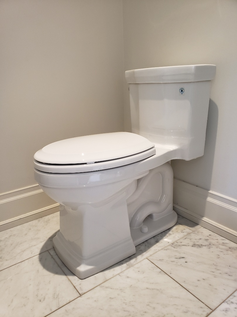 Installed new Toto Promenade one pc toilet