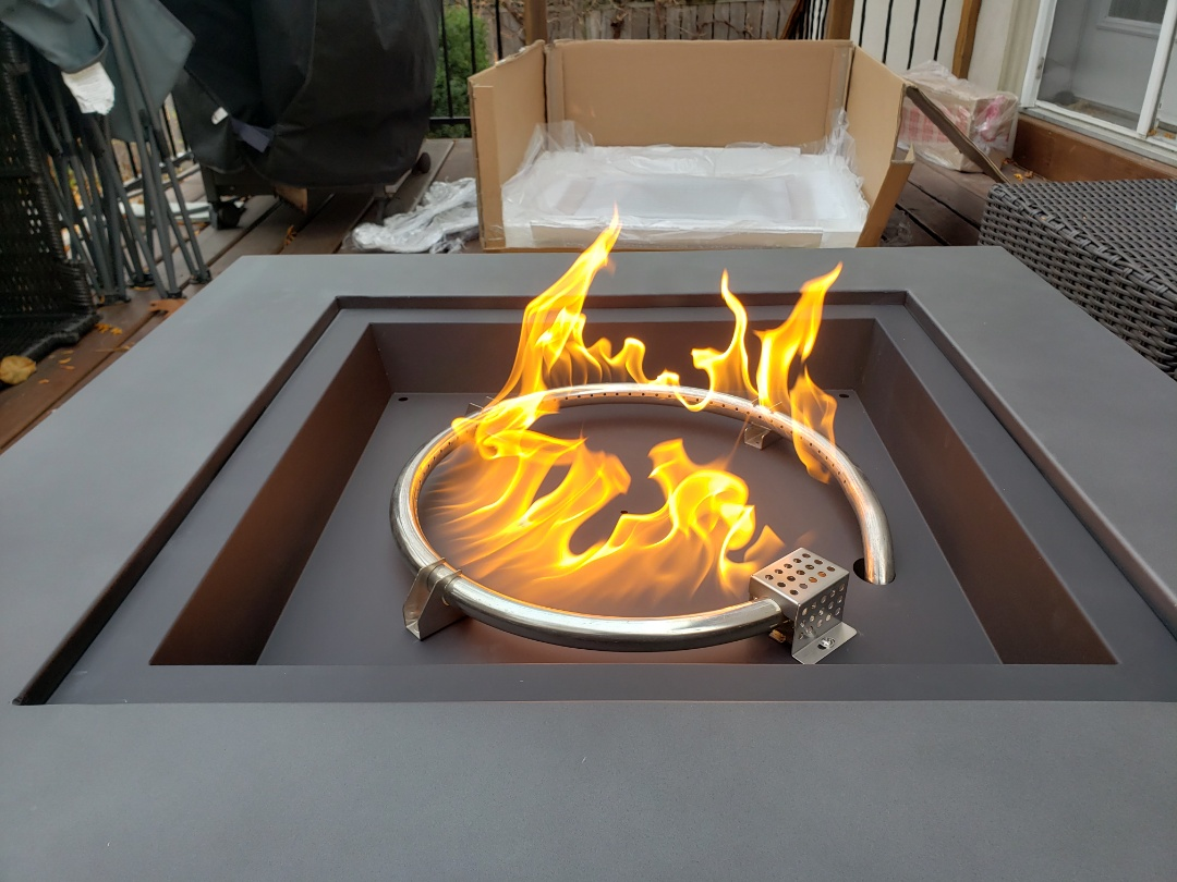 Install customers fire table