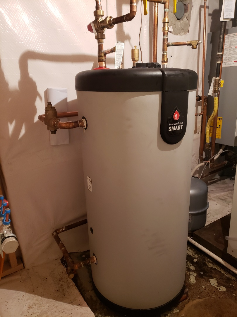 Supply and Install Triangle Tube indirect fired hot water tank
