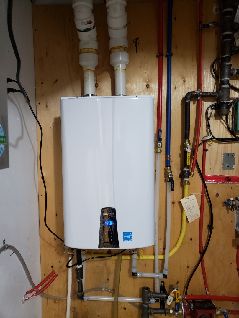 East York, ON - Installation of Navien tankless water heater