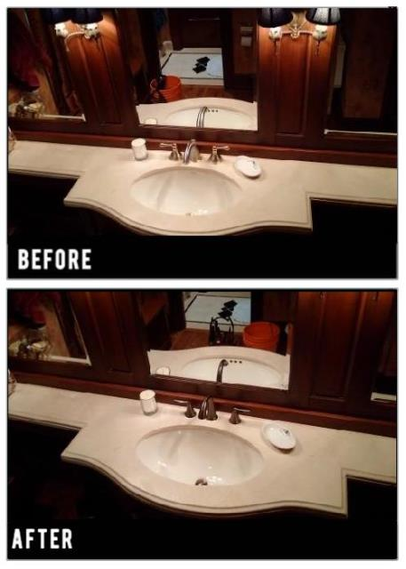 York, ON - Original faucet needed repairs, instead we decided to find one that suits this bathroom a little better. Oil rubbed bronze finish looks fantastic in this setting.