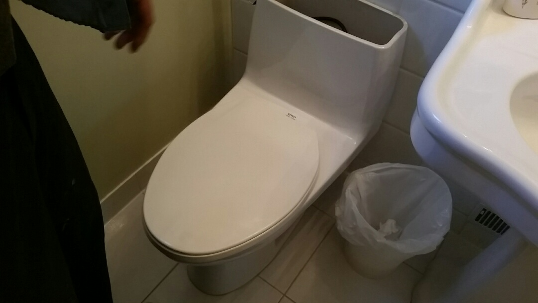 Old Toronto, ON - Removing old Toto toliet, Replacing with a Kohler