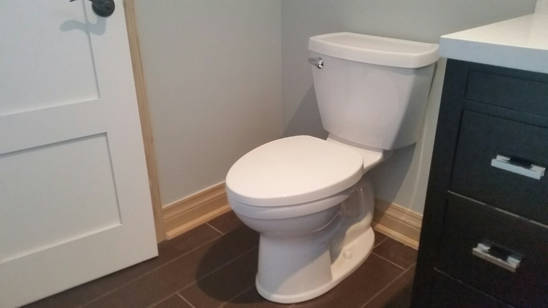 East York, ON - Installed toilet