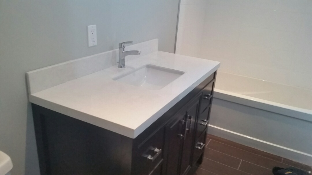 East York, ON - Installed vanity and faucet