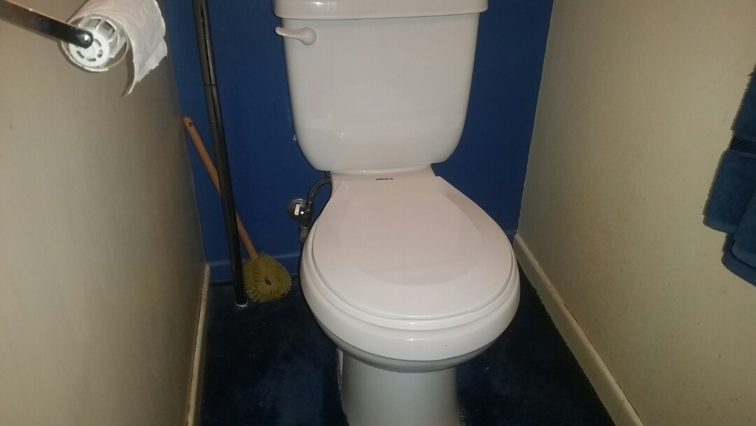 Installed owners toilet