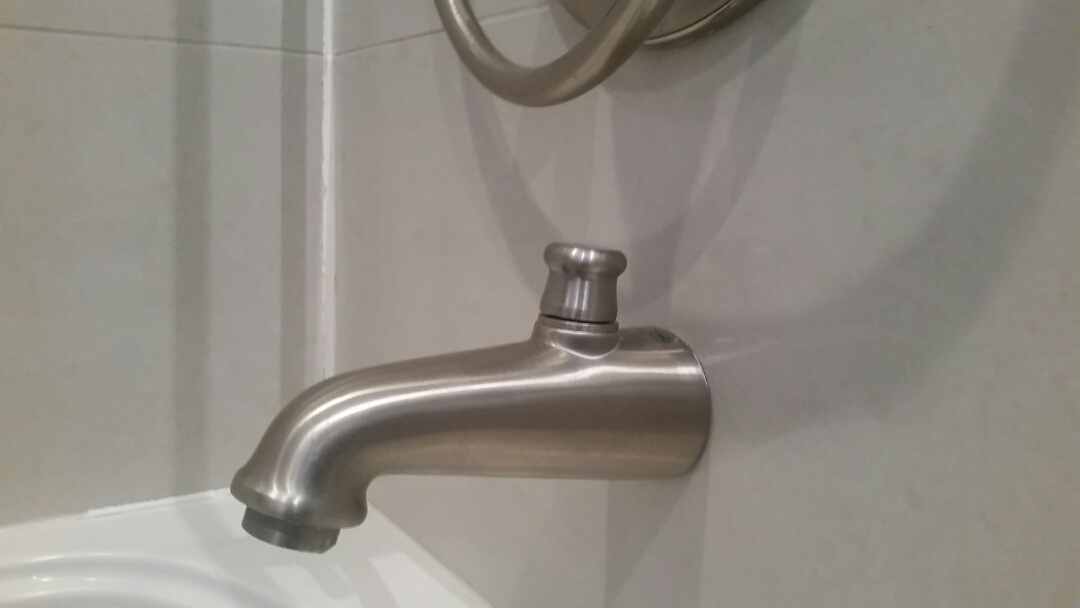 Installed owners shower diverter