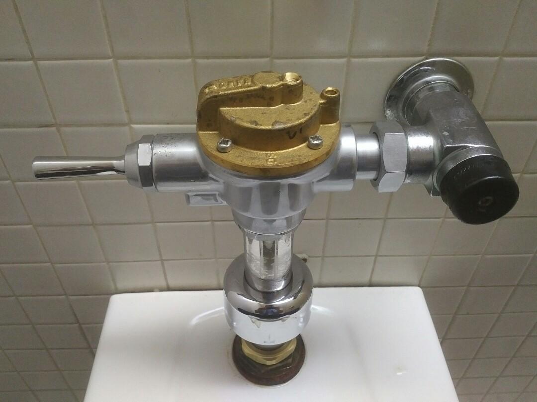 Replacing 2 flushometers