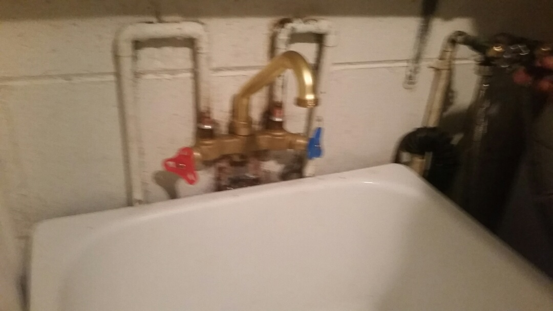Installed new laundry faucet