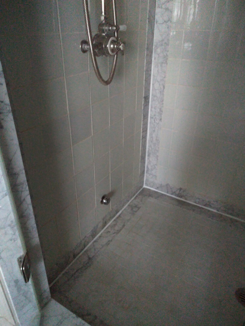 Recaulk shower