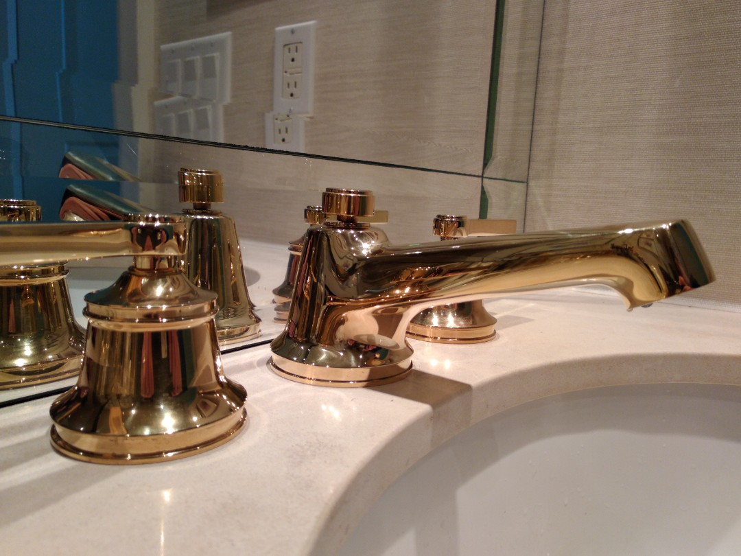 Installed owners widespread basin faucet