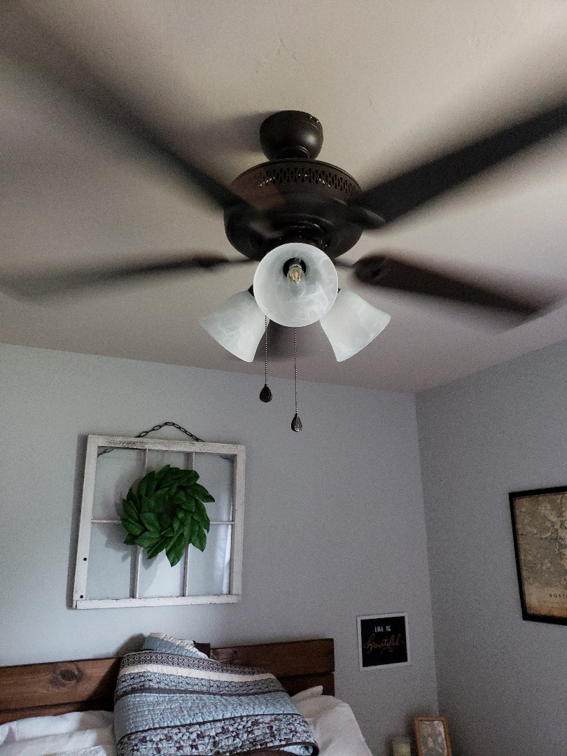 Norman, OK - ceiling fan installation.