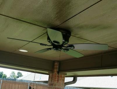 Yukon, OK - Ceiling fan install.