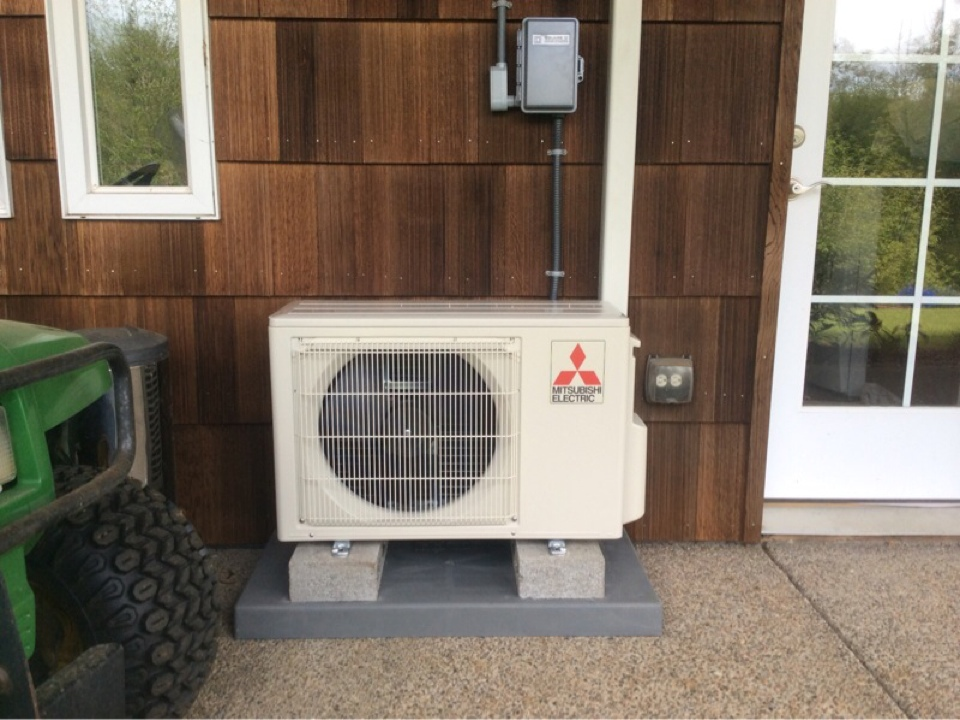Otis, OR - Installation of a Mitsubishi Ductless Heatpump in Otis Or