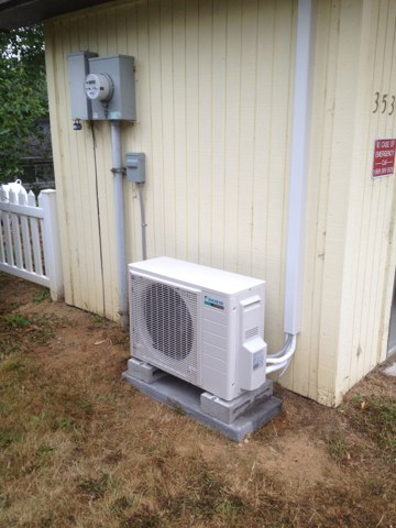 Reedsport, OR - Installation of a Daikin ductless air conditioning system to service a communications server building.