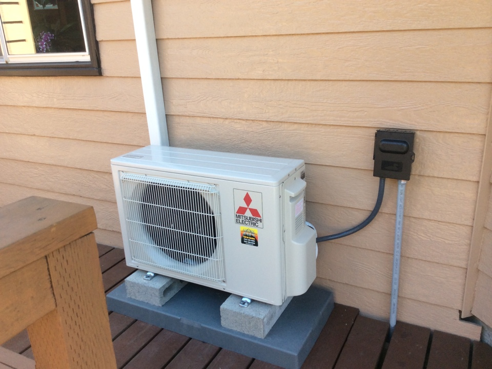 Tidewater, OR - Heating and air conditioning service visit to perform an installation of a Mitsubishi hyper heat ductless Heatpump in Tidewater Or