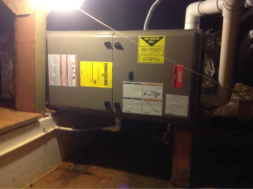 Yachats, OR - Heating service maintenance to perform cleaning and annual tune up on a Coleman Gas Furnace in Yachats Or