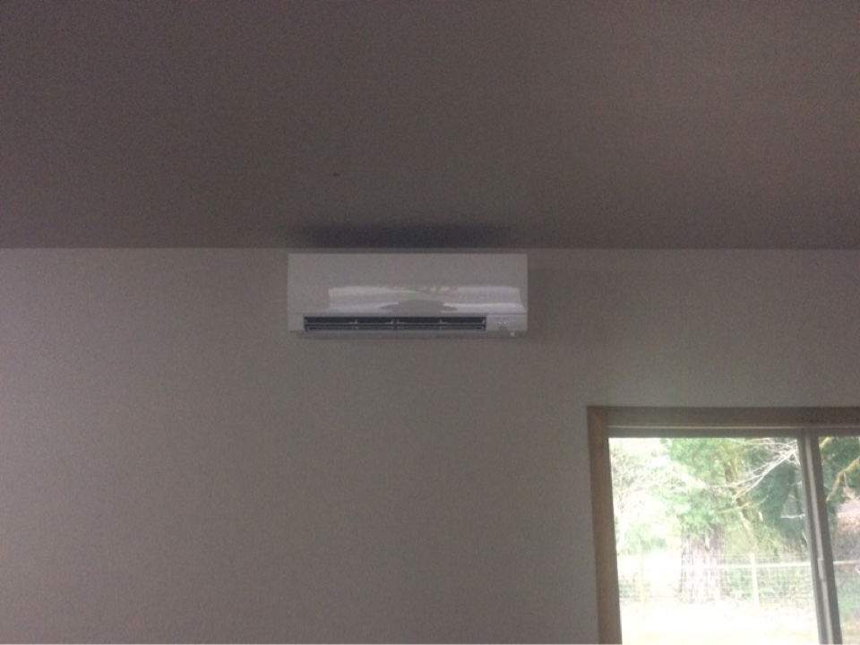 Tidewater, OR - Performed Installation of a Mitsubishi hyper heat ductless Heatpump in Tidewater Or