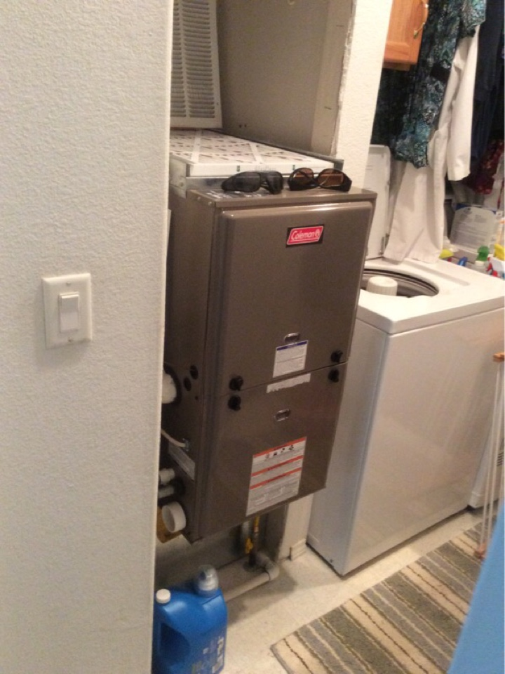 Depoe Bay, OR - Maintenance visit for a Coleman gas furnace in Lincoln City, Oregon