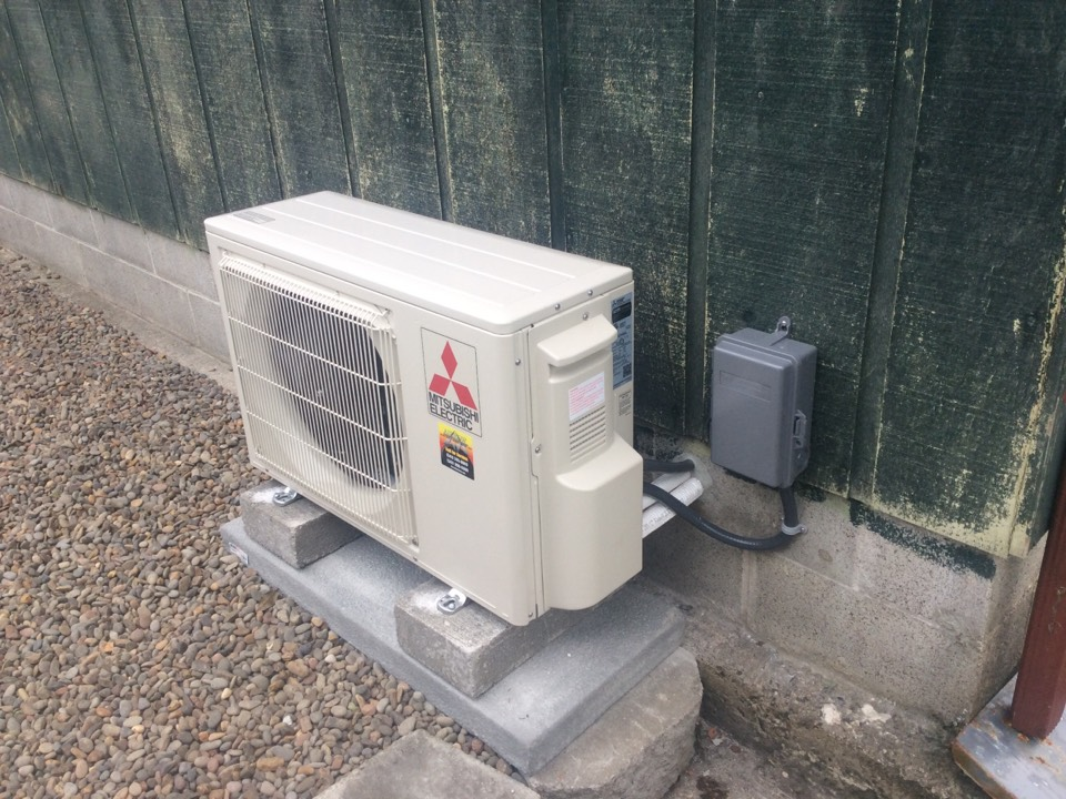 Yachats, OR - Performed the installation of a Mitsubishi hyper heat ductless Heatpump in Yachats Or