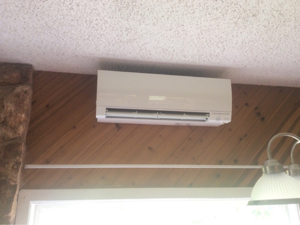 Tidewater, OR - Performed the installation of a Mitsubishi hyper heat ductless Heatpump in Tidewater Or