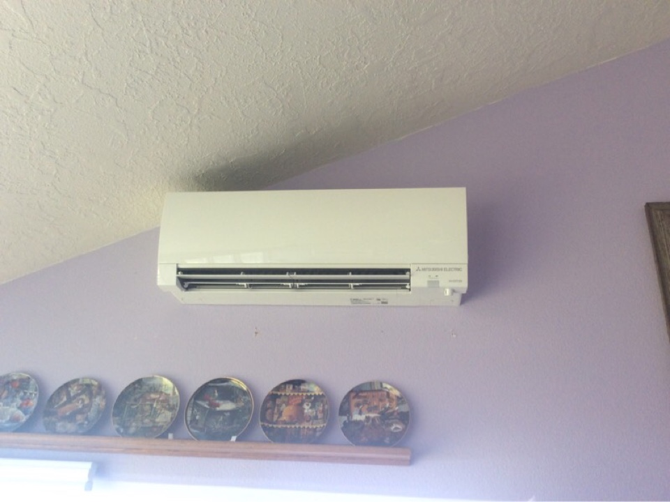 Yachats, OR - Service visit requested to perform the maintenance on a Mitsubishi hyper heat ductless Heatpump in Yachats Or