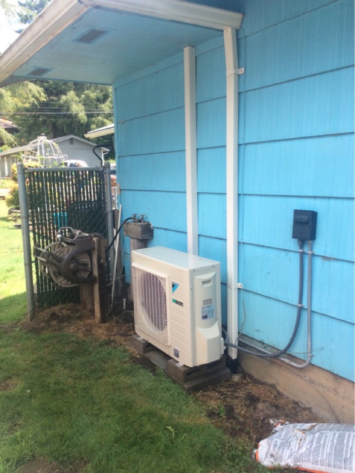 Toledo, OR - Service requested to perform the required maintenance on a Diakin ductless Heatpump in Toledo Or