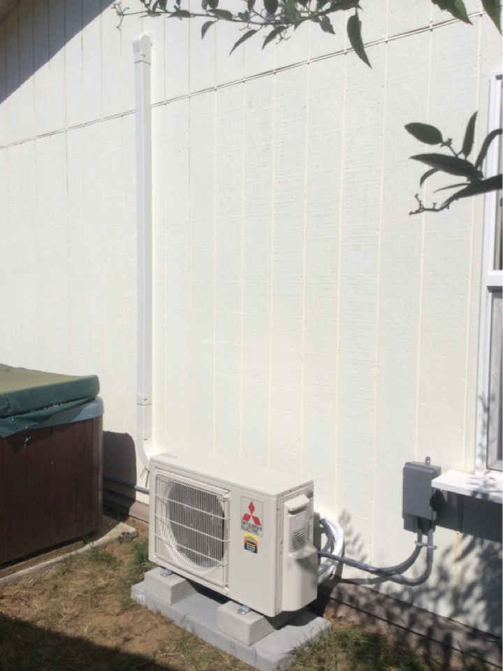 Waldport, OR - HVAC service requested to perform the installation of a Mitsubishi hyper heat ductless Heatpump in Waldport Or
