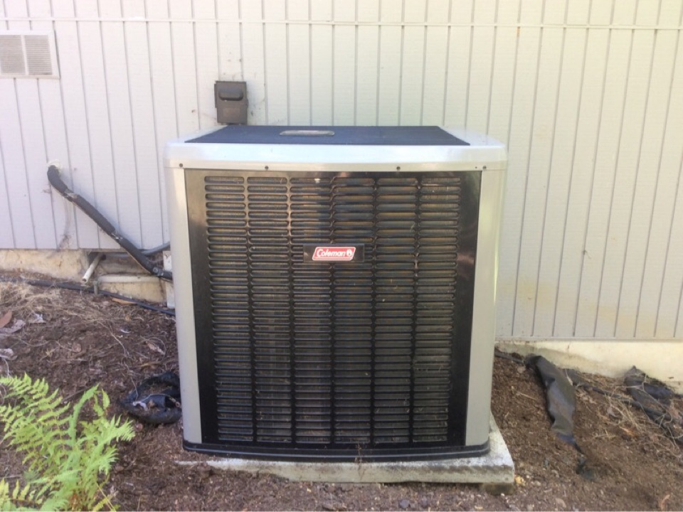 Toledo, OR - HVAC service requested to perform maintenance on a Coleman Heatpump in Toledo Or