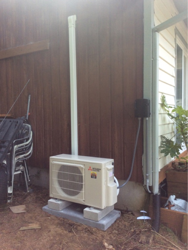 Depoe Bay, OR - HVAC service requested to perform the installation of a Mitsubishi hyper heat ductless Heatpump in Depoe Bay Or
