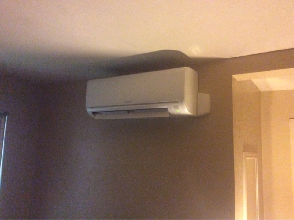 Toledo, OR - HVAC service requested to perform the installation of a Mitsubishi hyper heat ductless heat pump in Toledo Or