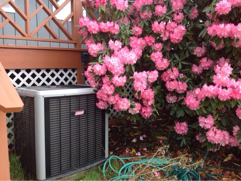 Otter Rock, OR - Maintenance on a Coleman heat ump system in Otter Rock, Oregon
