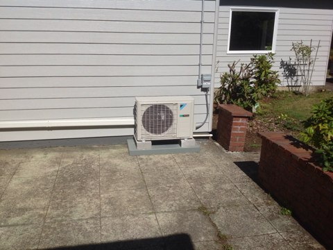 Bay City, OR - Installation of a Daikin ductless heat pump system in Bay City, Oregon