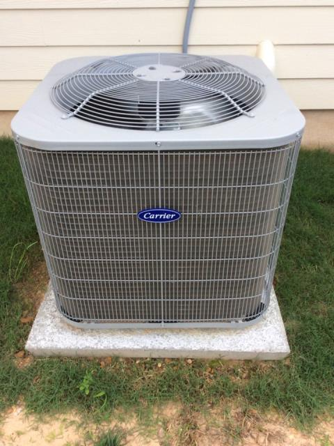Austin, TX - HVAC service Austin. Unit not coming on due to a bad dual voltage enhancement system. Replace part. System has higher head pressure than normal due to bent and deteriorating fins but the system is still cooling well.