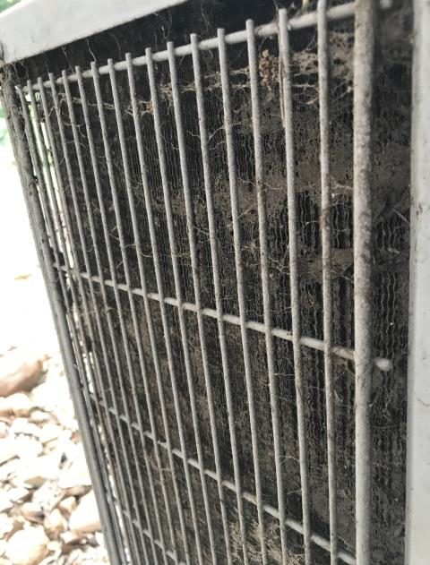 Bastrop, TX - Air conditioning companies. The condenser coil is dirty. Clean the air conditioner and change the filter. The air conditioner is cooling properly at this time.