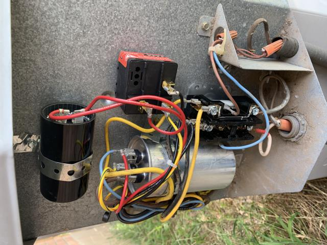 Bastrop, TX - A/C repair. There are ants in the outdoor unit causing parts to fail. Clear ants and replace part. The air conditioner is cooling properly at this time.