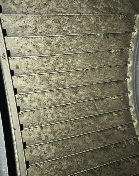 Bastrop, TX - A/C repair. The ac system is extremely dirty. Clean the system. The air conditioner is cooling properly at this time.